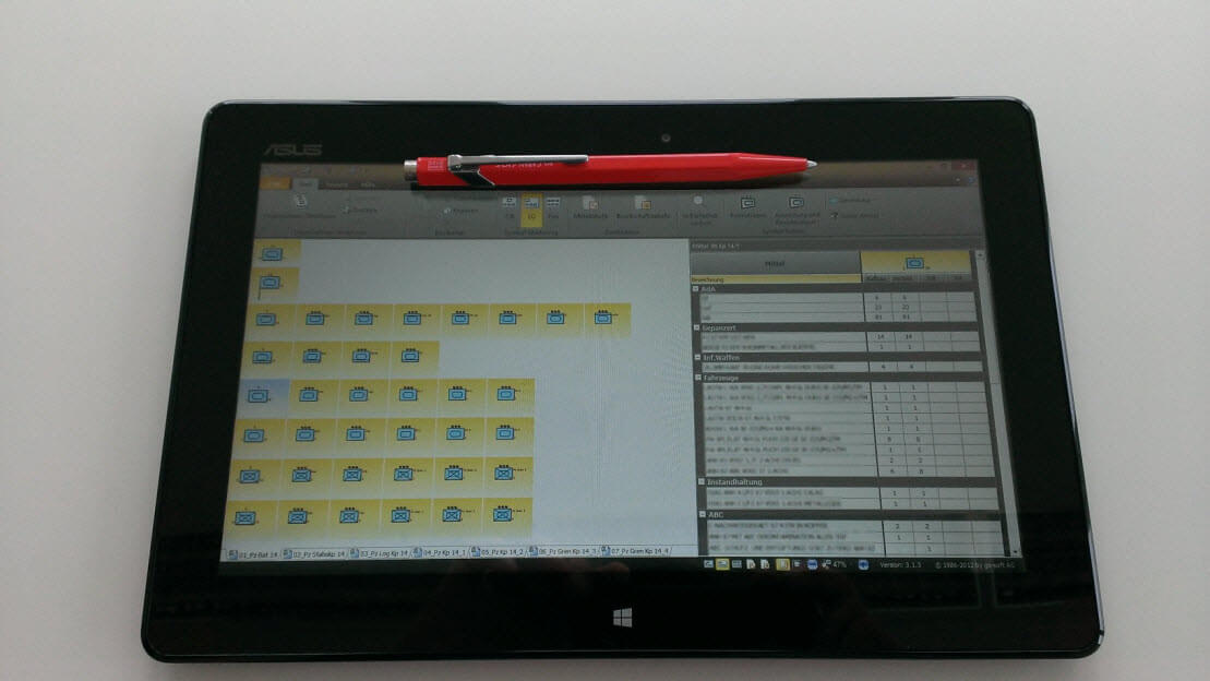 MssComposer on ASUS Vivo Tab