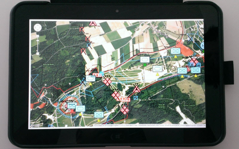 Military Map Export on Windows Tablet