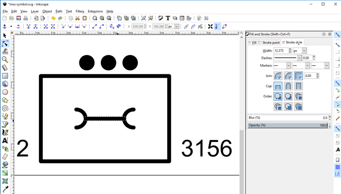 Open and Edit the Military Symbol generated on symbol.army in Inkscape